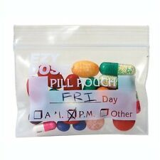 Ezy Dose Waterproof Pill Pouches - Travel Bags for Pills & Vitamins (100 Count)