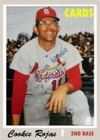 Custom made Topps 1970 St. Louis Cardinals Cookie Rojas Baseball card