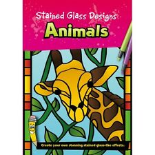 Stained Glass Designs - Animals - Creative Colouring Book (B099)