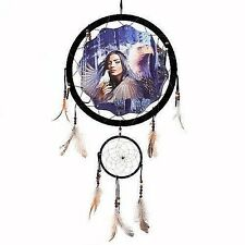 "13"" Indian Maiden Dove Eagle Dream Catcher Wall Hang Decor Feathers Gift 1374"