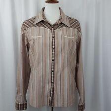 Cruel Girl Women's  Shirt Size XXL Snapfront Long Sleeve in Brown Plaid
