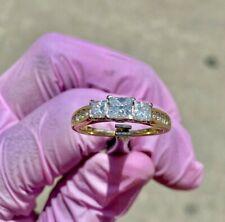 Cut Diamond Engagement Ring Tcw 1.70 Genuine 14 Karat Yellow Gold Princess