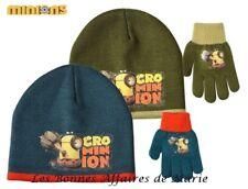 MINIONS - LIQUIDATION - Ensemble bonnet et gants bleu - Neuf avec étiquette