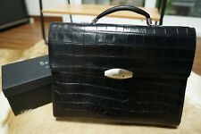Brioni Classic and Luxurious Black Leather Briefcase