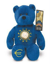 "Blue Euro Limited Treasures  9"" Plush Collectible Stuffed Euro Coin Bear"