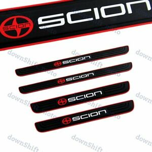 For SCION Black Rubber Car Door Scuff Sill Cover Panel Step Protector 4PCS NEW