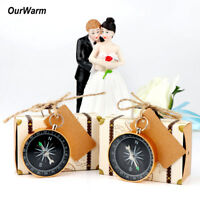 10/50×Mini Suitcase Candy Box with Compass Travel Wedding Party Souvenir Gifts