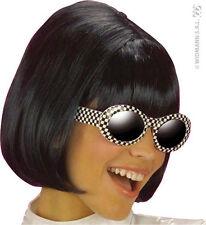 Perruque Carré Années 60 noire brune 1960 deguisement femmes adultes 6337
