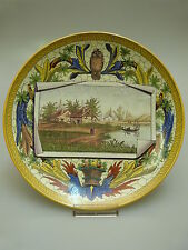 Fayence ASSIETTE CREIL 19. siècle Museal FAIENCE Leboeuf Millet & Cie