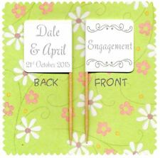 20 PERSONALISED ENGAGEMENT CUP CAKE FLAG Party Pick Food Topper Decoration