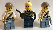 original lego parts 3 x COWBOYS texas rangers + weapon worth to have unit 1