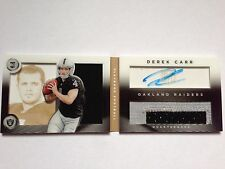 Derek Carr 2014 PANINI Playbook rookie 2cl JERSEY PATCH AUTOGRAPH ORO #/99