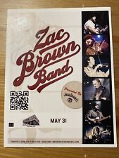Zac Brown Band May 31 Meriwether 4 X 6 Concert Flyer