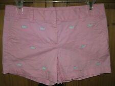 Vineyard Vines Girls Shorts Khaki Chino Blue Whale Pink Size 14 Excellent