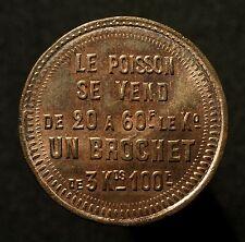 France, modules de 10 Centimes 1871, siège de Paris, le poisson se vend, RR!