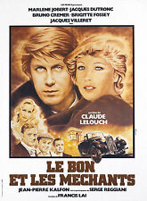 TRACTION AVANT - LELOUCH -  Marlène JOBERT - DUTRONC affiche BON ET LES MECHANTS
