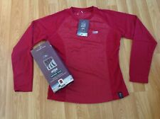 Womens Trek Mates Red Graphite Long Sleeved Vapour Tech Zip Top Size Medium