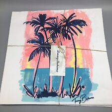 """x4 Tommy Bahama Palm Trees Placemat Set Tropical Pink Blue Summer Island 16"""""""