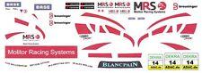 #14 MSR Team McLaren MP4-12c GT3 2012 1/64th HO Scale Slot Car WATERSLIDE DECALS
