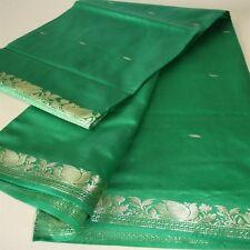 Sari TEXTILE rêve de indien-bollywood-kostüm Inde Coupon de tissu vert 19