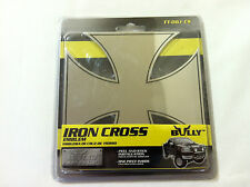"2.5"" Maltese Iron Cross Stainless Steel 3-D Emblem & 3m Adhesive Truck"