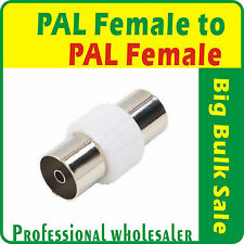 20 x PAL Female to PAL Female Straight TV Cable RF Coaxial Connector Adaptor