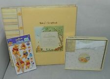 Winnie The Pooh 12 x 12 Scrapbook Album 4 x 7 Photo Album Stickers Pages Lot