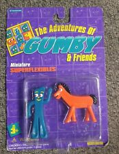 Adventures Of Gumby and Friends Miniature Superflexibles 1995 Gumby & Pokey