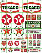 4014 DAVE'S DECALS HO GAS OIL FILLING STATION ADVERTISING SIGNAGE MULTI ERAS