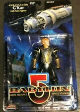 Babylon 5 G'Kar Gold Armor With Narn Fighter Action Figure Nib Fresh From Box