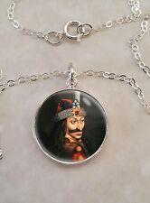 Sterling Silver .925 Pendant Necklace Vlad Tepes The Impaler Dracula Vampire