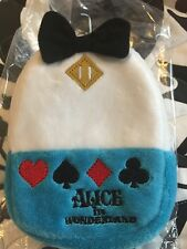 NWT Japan Disney Alice in Wonderland Mini Backpack Pouch Keychain coin purse.