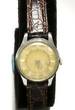 Ladies Swiss Mystery Dial Wrist Watch by Aureole Hand Wind Vintage C.1960's
