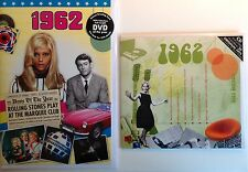 56th BIRTHDAY GIFT SET - 1962 DVD Britpop CD and Year Greeting Card