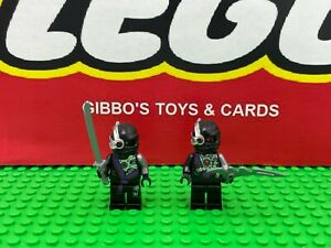 LEGO 2 x NINDROID WARRIOR minifigures NINJAGO set 70728 70723 70724 70588 figure
