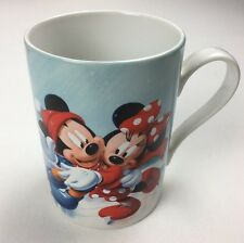 Disney Store Mickey Minnie Mouse Daisy Donald Goofy Winter Scene Cup
