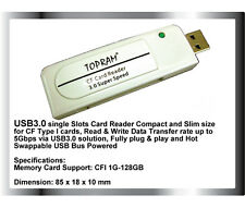 TOPRAM RV34 USB 3.0 CF Card Reader fit 4GB 8GB 16GB 32GB 64GB 128GB CompactFlash