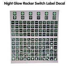 Night Glow Rocker Switch Label Decal Circuit Panel Sticker Car Boat Marine DT