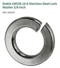 "100pcs DOTTIE  LWS38 Lock Washers Stainless Steel 3/8"""
