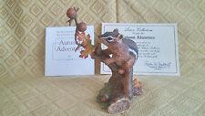 1991 Lenox Autumn Adventure Eastern Chipmunck Porcelain Figurine With Papers COA