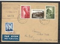 Belgium Sc B558-660  ON REGISTERED COVER TO N.Y  ARR  VF