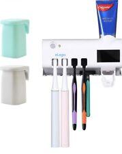 eLegio Toothbrush Holder and Sterilizer Set, Wall Mount Ultraviolet Brush