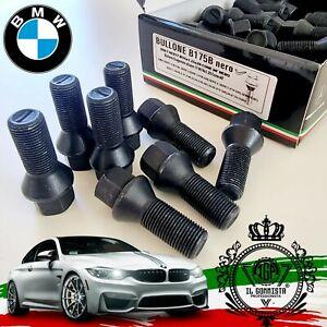 B175B KIT 20 Bulloni Ruota NERI sostituz ORIGINALE BMW Serie 1 2 3 4 5 6 7 8 X1