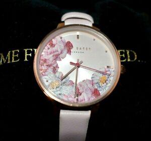 NIB Ted Baker London Women's Kate Leather Strap Watch 36mm MSRP $135