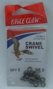 Eagle Claw 01102-003 Black Crane Swivel Size 3 5CT 20103