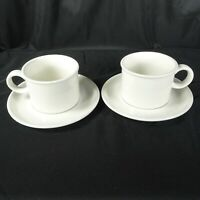 Midwinter Stonehenge White Tea Coffee Cup & Saucer Wedgwood Group England MCM