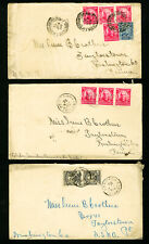 Brazil Stamps Lot of 3 Scarce Early Covers