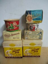 VINTAGE ADVERTISING ICE CREAM BUTTER DAIRY  BOX LOT ESTATE FIND