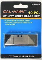 10 Piece Utility Knife Blade Set Box Cutter Replacement Blades Refill Razor