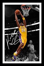 KOBE BRYANT AUTOGRAPHED SIGNED & FRAMED PP POSTER PHOTO